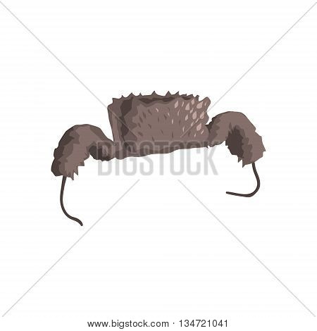 Russian Cap With Ear Flaps Bright Color Detailed Cartoon Style Vector Illustration Isolated On White Background