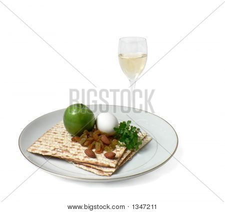 Seder Plate With Wine