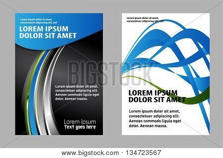 brochure flyer design. Abstract vector modern flyer brochure design templates