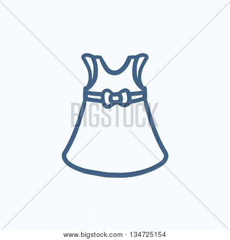 Baby dress vector sketch icon isolated on background. Hand drawn Baby dress icon. Baby dress sketch icon for infographic, website or app.