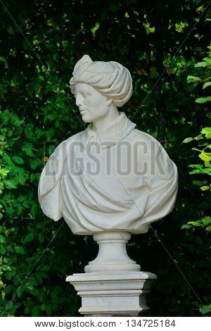 Versailles France - august 19 2015 : statue in the Grand Trianon park in the Marie Antoinette estate in the parc of Versailles Palace