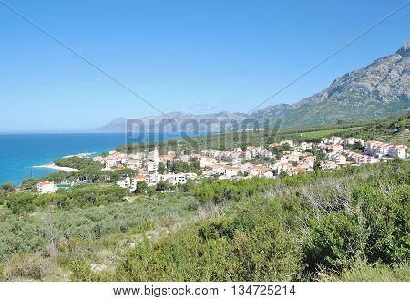 Village of Promajna at Makarska Riviera in Dalmatia,adriatic Sea,Croatia