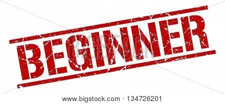 Beginner Stamp. Vector. Stamp. Sign. Beginner. Red.
