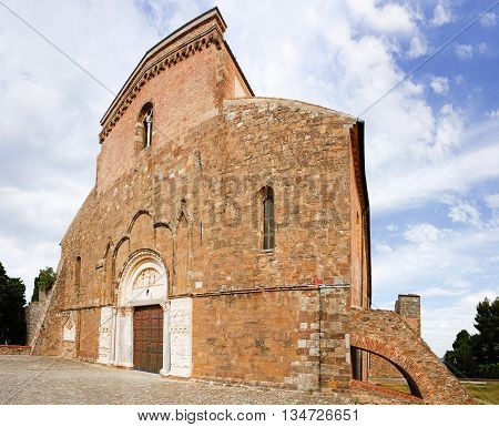 Fisheye of abbey of San Giovanni in Venere in Fossacesia (Italy)