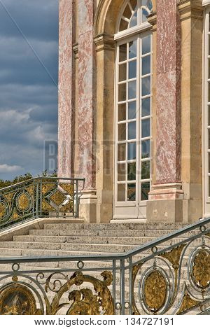 Versailles France - august 19 2015 : the Grand Trianon in the Marie Antoinette estate in the park of Versailles Palace