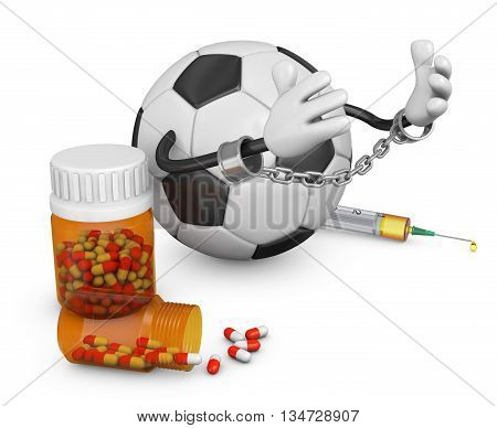 Ball In Handcuffs With Capsules