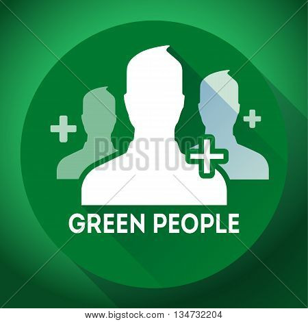 Teamwork and association of green people icon. Flat design style