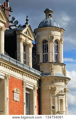 Conflans Sainte Honorine France - april 4 2016 : the Prieure castle