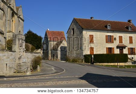 Bouconvilliers France - march 14 2016 : the picturesque village in winter
