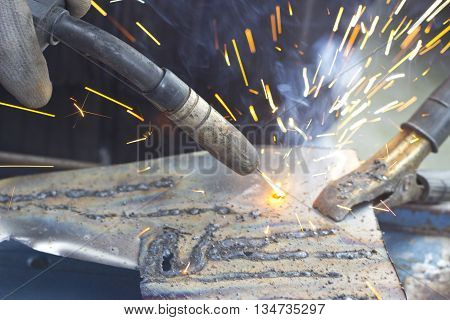 To Weld a iron sheet in Detail