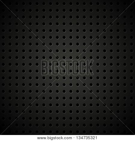 Textured vector perforated leather background. Abstract vector lether.