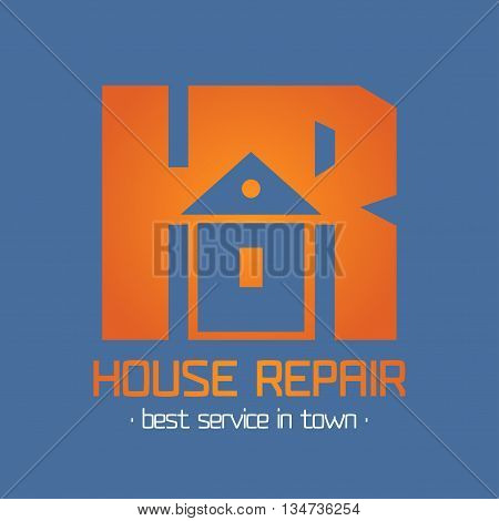 Home, house repair vector logo. House remodeling concept