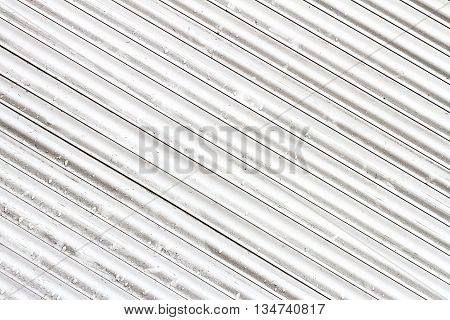 Grungy white and gray metal window roller blinds background