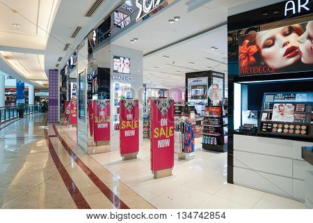 KUALA LUMPUR, MALAYSIA - MAY 09, 2016: Sasa store in Suria KLCC. Sa Sa International Holdings selling cosmetics, personal care, skin care and baby care products, often at discounted prices