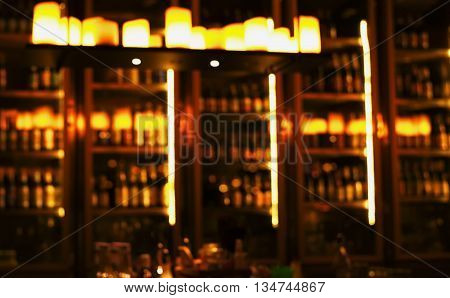 blur light in bar or pub abstract