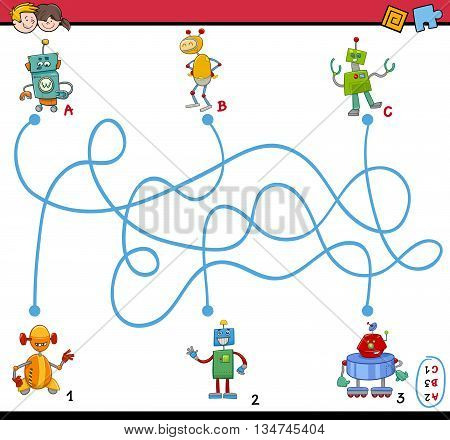 Maze Puzzle Activity For Kids