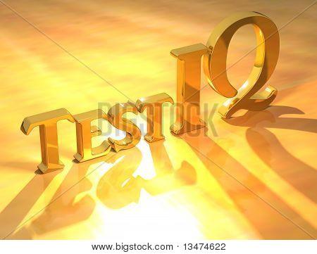 Test Iq Gold Text