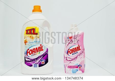 Berezovitsa, Ukraine - Circa June, 2016: Fabric Softener, Laundry Detergent Or Fabric Conditioner Fo