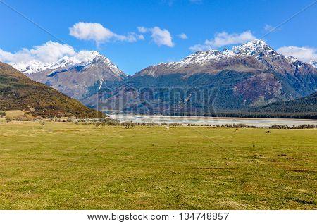 Alpine Landscape In Glenorchy, New Zealand