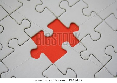 Red Jigsaw Element