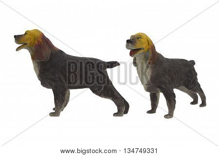 Isolated domestic dog toy. Isolated domestic dog toy side and angle view photo.