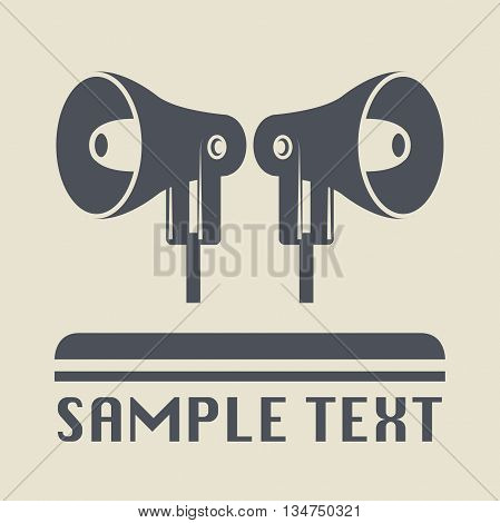 Abstract Megaphone icon or sign, vector illustration