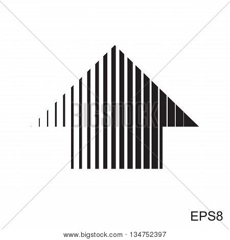 Stripes Abstract Arrow