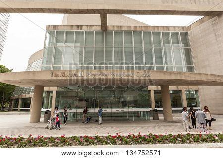 DALLAS USA - APR 9: Morton H. Meyerson Symphony Center building in Dallas. April 9 2016 in Dallas Texas United States