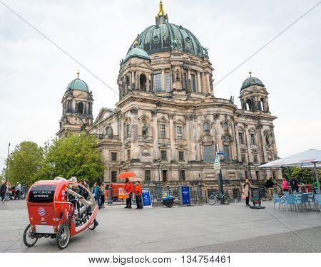 Berlin, Mitte - May 16 : Berlin Cathedral Church. German Berliner Dom. A famous landmark. May 16, 2016 in Berlin, Germany.