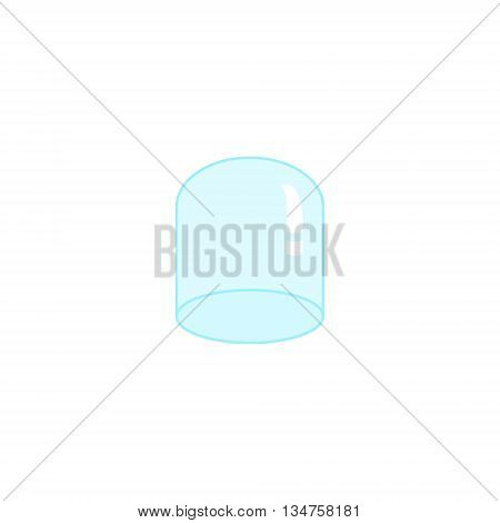 Glass dome for plants of flat style. Greenhouse cover plants icon illustration.