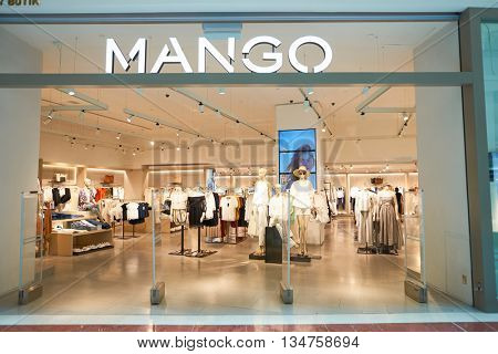 KUALA LUMPUR, MALAYSIA - MAY 09, 2016: MANGO store in Suria KLCC. Punto Fa, S.L., trading as MANGO, is a clothing design and manufacturing company, founded in Barcelona, Catalonia
