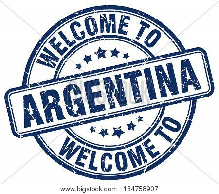 welcome to Argentina stamp. welcome to Argentina.