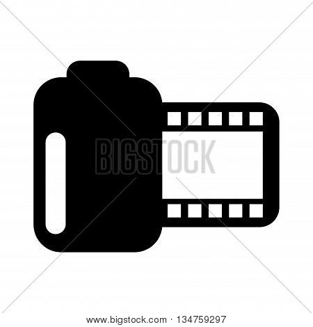 roll photographic film isolated icon design, vector illustration eps10 graphic
