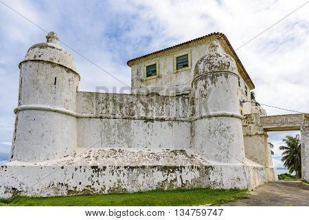 Fort of Our Lady of Monte Serrat built in the 16th century and located in Humaita tip in Salvador Bahia