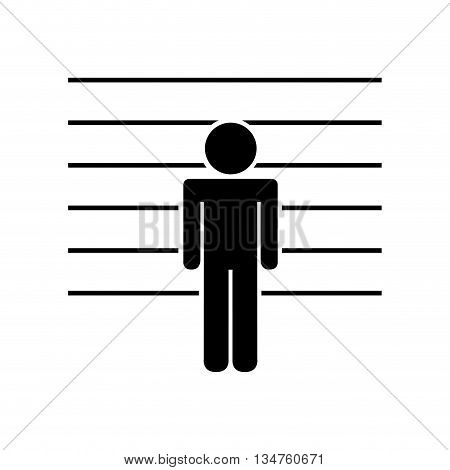 prisoner in signing isolated icon design, vector illustration eps10 graphic