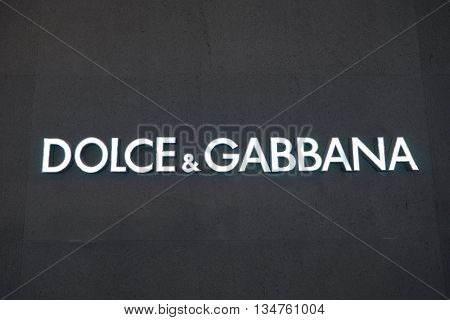 KUALA LUMPUR, MALAYSIA - MAY 09, 2016: Dolce & Gabbana store in Suria KLCC. Dolce & Gabbana is a luxury Italian fashion house founded in 1985 in Legnano by Domenico Dolce and Stefano Gabbana