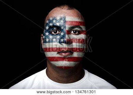 Man With Eeuu Flag
