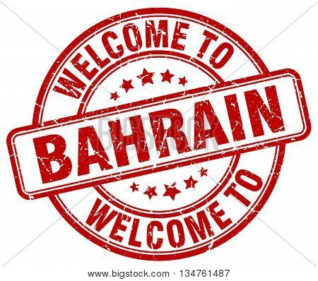 welcome to Bahrain stamp. welcome to Bahrain.