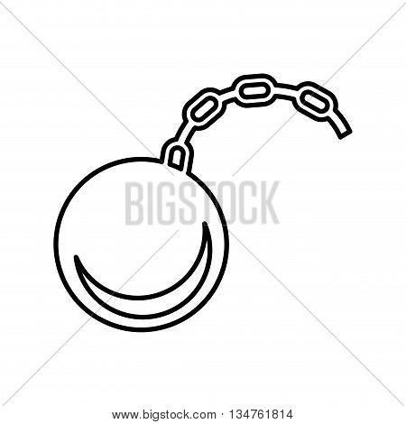shackle slave  isolated icon design, vector illustration eps10 graphic