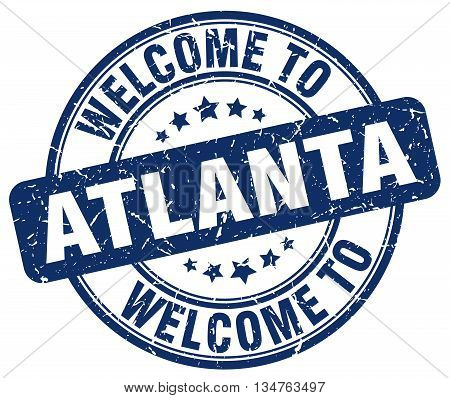 welcome to Atlanta stamp. welcome to Atlanta.