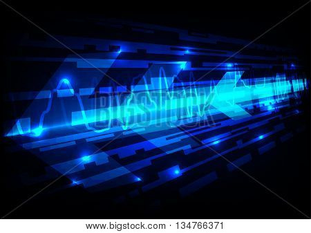Abstract technology arrow effect background.illustration vector design
