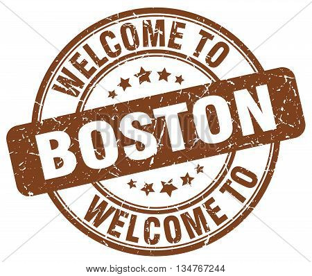 welcome to Boston stamp. welcome to Boston.