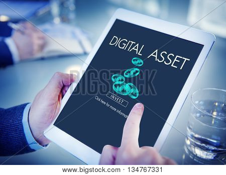 Digital Asset Data Information Value Electronic Concept
