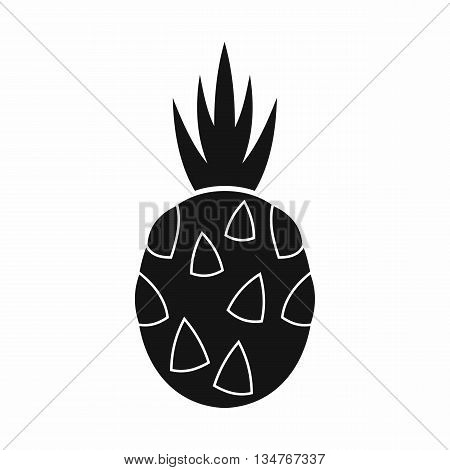 Pitaya, dragon fruit icon in simple style isolated on white background