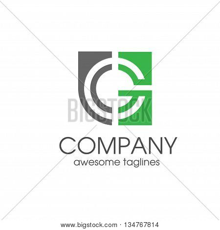 creative letter G square icon vector, letter G concept