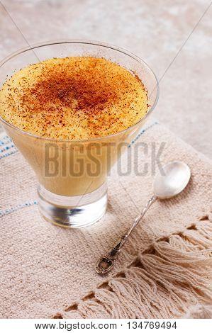 Brazilian Sweet Custard-like Dessert Curau De Milho Mousse Of Corn