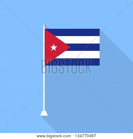 Flag of Cuba. Vector illustration in a flat style.