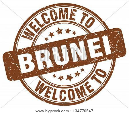 welcome to Brunei stamp. welcome to Brunei.