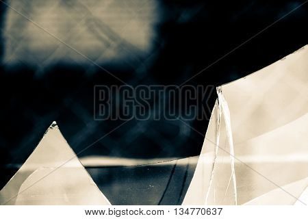 Broken Glass Vintage Background