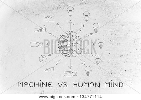 Circuits & Brain Creating Processed Data Vs Ideas, Machine Vs Mind